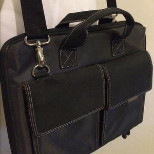 Handbags - Black and pink suede laptop bag
