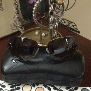 CHANEL Accessories - Chanel Camellia Sunglasses