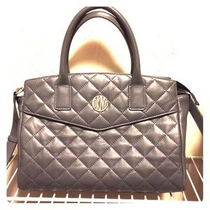DKNY Handbags - SOLD ON EBAY* DKNY Quilted Gray Calf Leather Bag