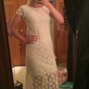 Off white lace maxi dress