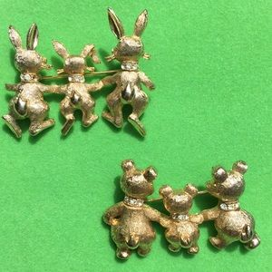 Vintage Jewelry - 💐Easter!💐Signed Mamselle Brooches