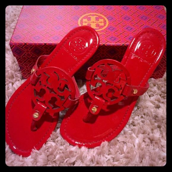 0ef47d54040 Tory Burch Miller Sandals Sz 6.5 Patient Red Color.  M 570c57db13302a42f007e848