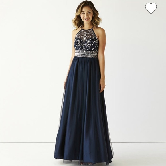 Jcpenney Dresses Lovely New Blue Navy Prom Dress Poshmark