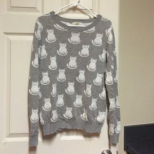 Cat sweater  size medium
