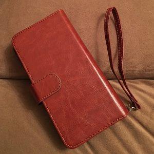 Vofolen Accessories - Leather IPhone 6SPlus phone case and wristlet
