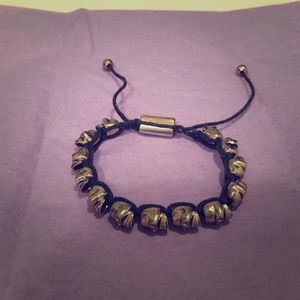 Urban Outfitters Jewelry - Urban outfitters drawstring skull bracelet