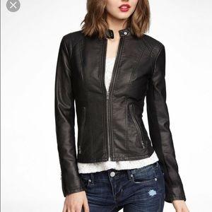 Jackets & Blazers - REVOLVE LEATHER COAT. Revolve !!
