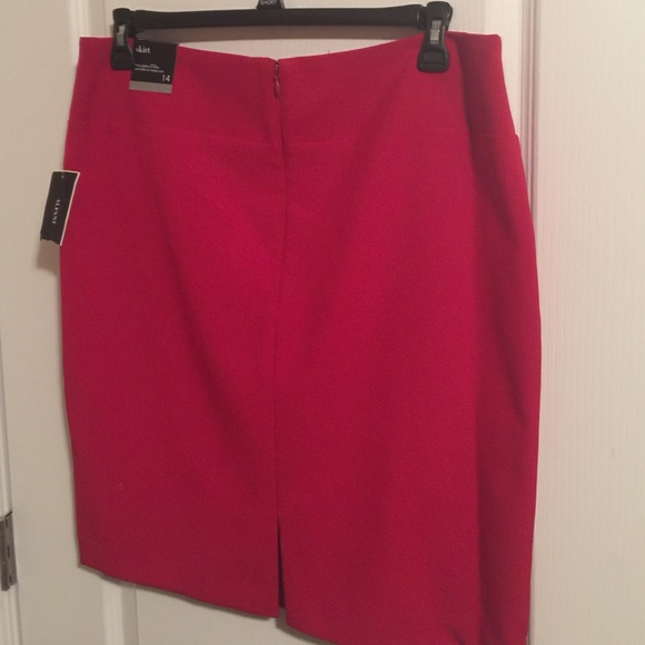 53% off Dresses & Skirts - Bright red pencil skirt! ❤  from ...