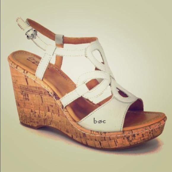 46d89c8b10 Born Shoes | B O C White Wedges | Poshmark