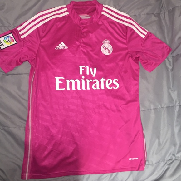 86b3063ded8 Adidas Tops - Pink Adidas Real Madrid Fly Emirates Soccer Jersey