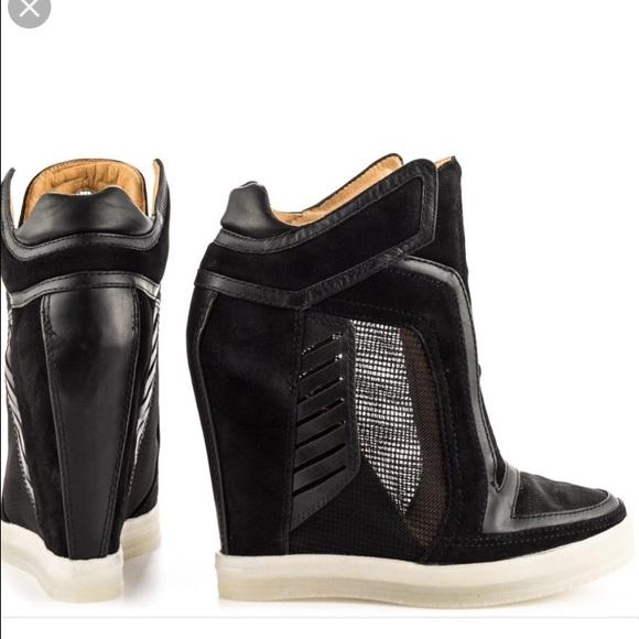 a8e9df8409c0 L.A.M.B. Shoes - L.A.M.B. Freeda mesh panel sneakers wedge Sz 6