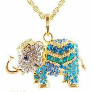 Accessories - Hour Sale💙 Blue Elephant Bead Pendant & Necklace