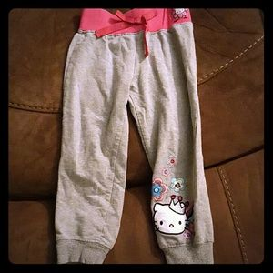 Hello Kitty Bottoms - Pink and grey hello kitty joggers 3T for kids