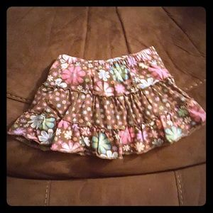 3T blue and pink flowers on brown skort SUPER CUTE