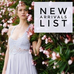 New Arrivals List