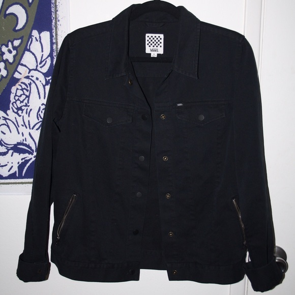 2524ffe837 Black Vans Denim Jacket