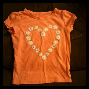 Other - Orange shirt with heart in flowers 4T