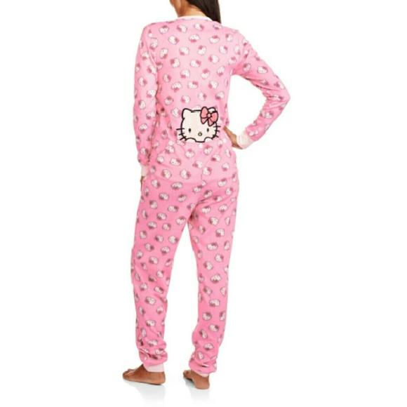 Intimates Amp Sleepwear Hello Kitty Adult Onesie Pajamas