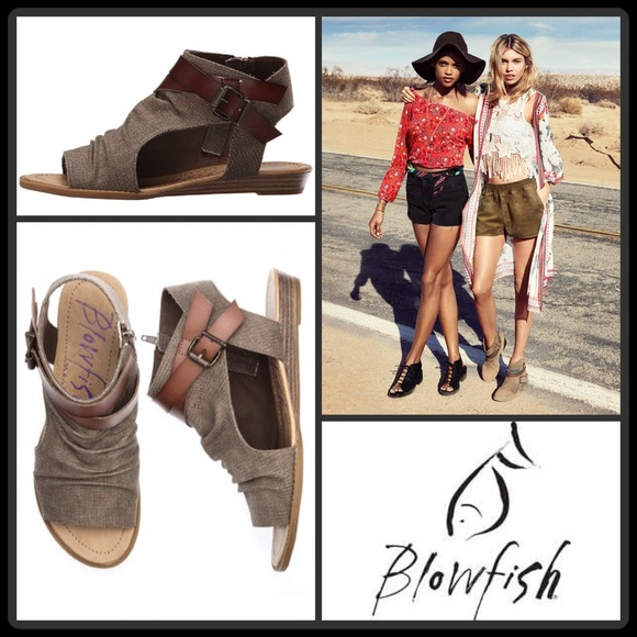 81369f948579  JUST IN🆕 BLOWFISH  BALLA CANVAS WEDGE SANDAL