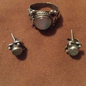 Jewelry - Sterling silver moonstone set final $$