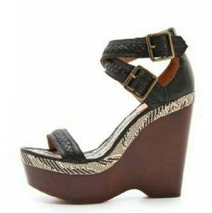 JOIE Wooden Wedge Sandals- SIZE 40/10