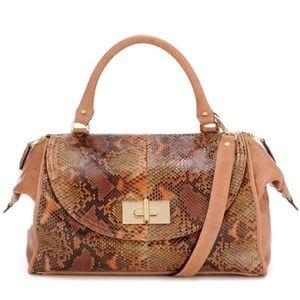 Be & D Handbags - NEW! Be&D Genuine Python Snakeskin Satchel