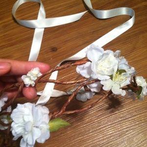 Accessories - Handmade Coachella Inspired Floral Hair Wreath