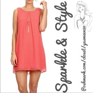 AS U WISH Dresses & Skirts - NWT✨Coral/Salmon dress✨