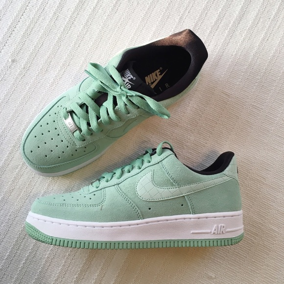 new concept 93293 1e02e Nike Mint Green Suede Air Force 1