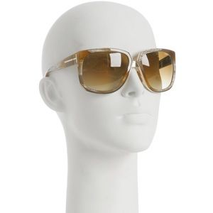 tom ford carine sunglasses in tan woodgrain