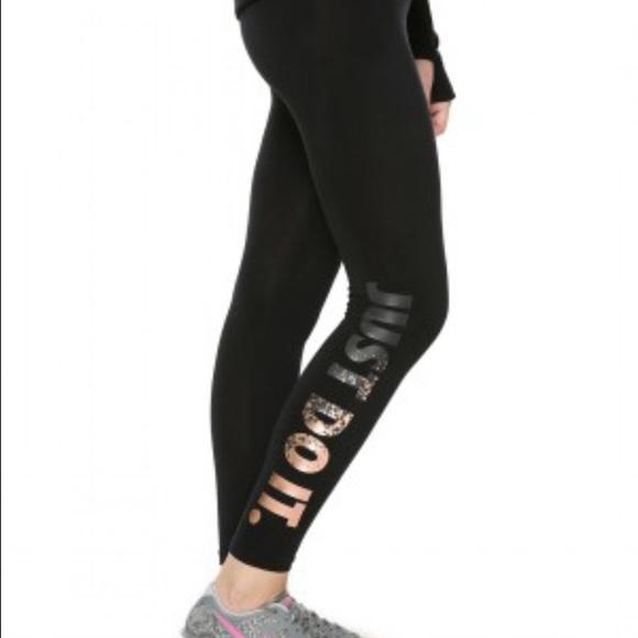 0870212b0bd7c Nike Pants | Metallic Fitted Leggings | Poshmark