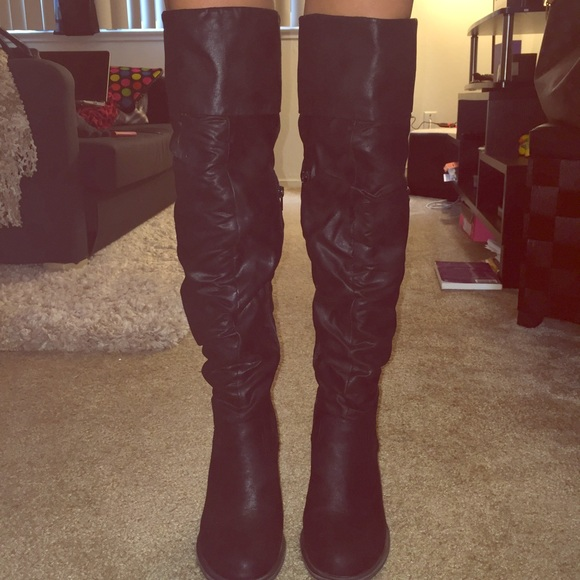 4f5da8ba3df Over the knee black boots. M 570d2c4d78b31cc1420060d1. Other Shoes you may  like. Seven Dials ...