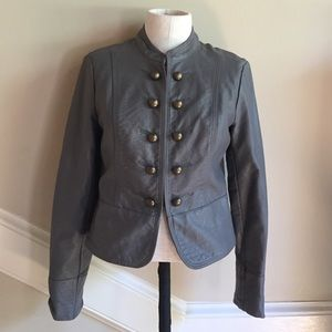 Forever 21 military faux leather jacket size small