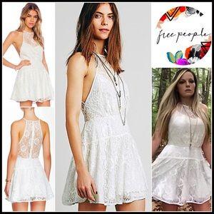 Free People Dresses & Skirts - FREE PEOPLE PARTY DRESS Lace Mini Slip Dress