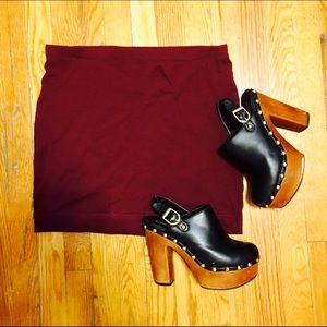 H&M Garnet Bodycon Skirt