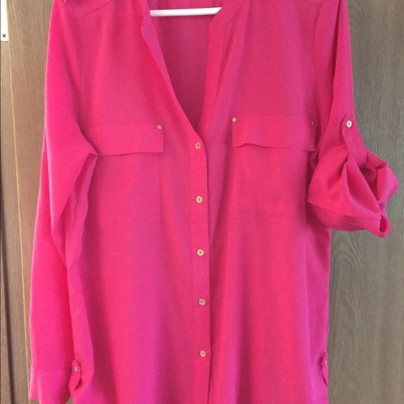 c469230634622 Calvin Klein Tops - Calvin Klein pink blouse