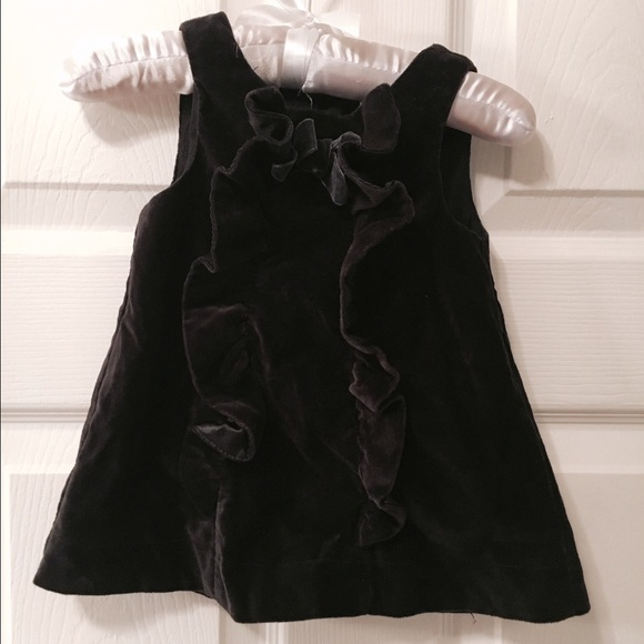 Dresses Baby Girls Black Velvet Dress Size 69 Mos Poshmark