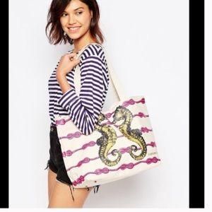 Thursday/Friday Handbags - Sea Horse Canvas Tote Bag. 🎉HP🎉 Limited Ed.