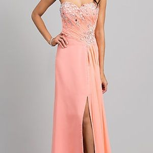 Beautiful Size 2 Peach Prom Dress