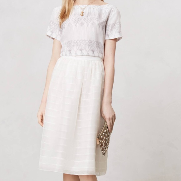 be2a0669d2d5 Alexandra Grecco Dresses   Skirts - Alexandra Grecco white silk   linen  striped skirt