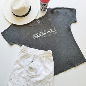 Hibiskiss Clothing Tops - Start Each Day with a Grateful Heart & Coffee tee