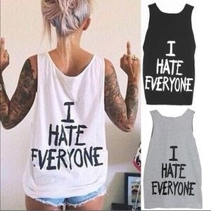 "Tops - ""I Hate Everyone Tee""⭕️SALE⭕️"