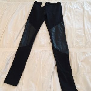  Black Leggings with leather knees