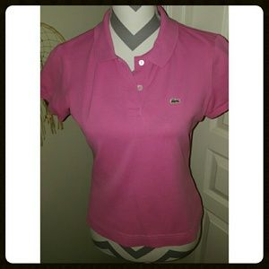 LACOSTE Pink Polo
