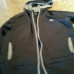 Adidas climawarm.. cute jacket black and grey xl