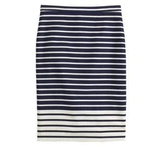 J. Crew No 2 pencil skirt in colorblock stripe