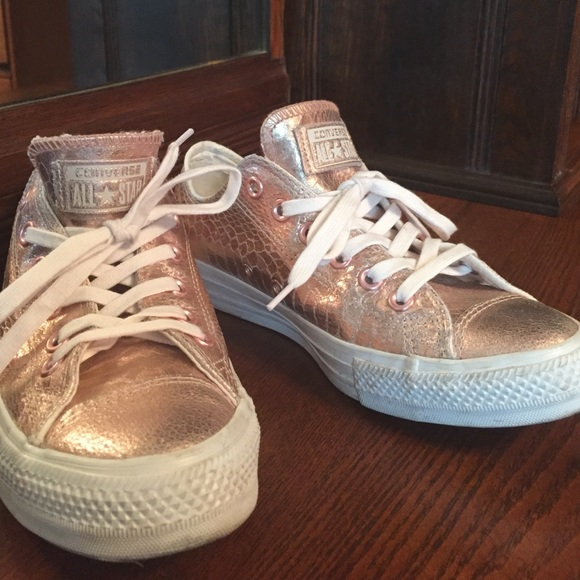 Converse Shoes - Rose Gold Metallic Converse All Stars (women s) 879fb347c9