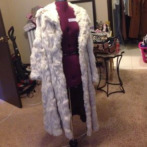 Authentic Vintage Floor Length Rabbit Fur Coat