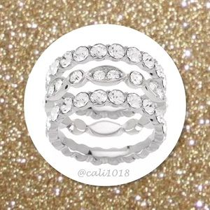 3 Stainless Steel Stackable Ring Set QVC $119