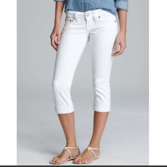 White Jean Capris Breeze Clothing